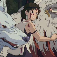 #princessmononoke Spotify Playlist, Studio Ghibli, Anime, Art, Princess Mononoke, Princesses, Art Background, Kunst, Cartoon Movies