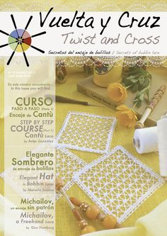 Vuelta y Cruz Nº19: Revista de bolillos / Twist and Cross N.19: Bobbin lace magazine (11€)