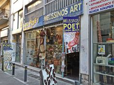 The famous poet-sandal maker Melissinos on Ermou Str., Athens, Greece. Try a…