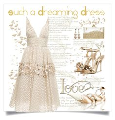 """""""Dreaming Dress"""" by conch-lady ❤ liked on Polyvore featuring Carolina Herrera, Sophia Webster and dreamingdresses"""