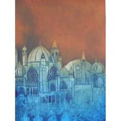 Laurie Rudling - Caverns Measureless to Man, Collagraph - Edition 20.