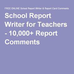 school report writer