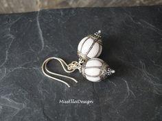 Koralle - Ohrhänger Koralle weiss 925 Silber - ein Designerstück von edelsteinreich bei DaWanda
