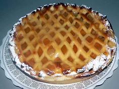 linzenvlaai Pie Dessert, Dessert Recipes, Desserts, Cake Recept, Dutch Recipes, Cookie Pie, Cake Cookies, Tart, Waffles