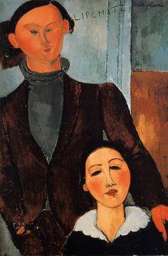 Jacques and Berthe Lipchitz 1917 by Modigliani Joseph J Abhar