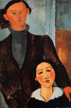 Jacques and Berthe Lipchitz 1917 by Modigliani Joseph J Abhar