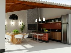 Jj Open Kitchen, Kitchen And Bath, Kitchen Dining, Weekend House, Pool Houses, Kitchen Storage, Exterior Design, Outdoor Spaces, Sweet Home
