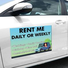 VEHICLE CAR MAGNETS SET OF 2 FULL COLOR 24x12  1-SIDED