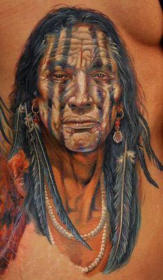 Tattoo Artist - Dmitriy Samohin   www.worldtattoogallery.com/indians_tattoo