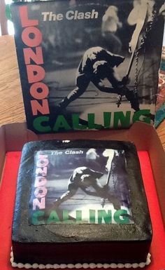 Pastel The Clash - London Calling The Clash, London Calling, Lunch Box, Birthday, Pastries, Bento Box, Birthdays, Birth Day