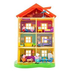 Pig Family, Home And Family, Christmas Toys, Christmas 2019, Peppa Pig Familie, Peppa Pig House, Top Toys, Room Lights, Play Houses