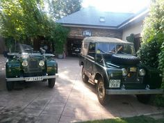 Land Rover 86 Serie One and Land Rover 88 Serie II soft top. By Santana motors, Spain.