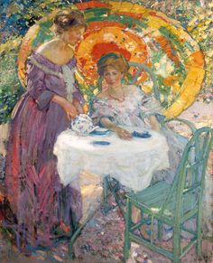 Afternoon Tea, 1910. Richard Edward Miller. Oil on canvas