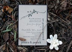 Ivory Romance - burlap boxed wedding invitations refines the classic and timeless rustic-chic wedding with warm taupe recycled papers, an off-white envelope with sand specks, burlap liner, and hand made flower. RUSTIC BOXED WEDDING INVITATION PRICING INCLUDES: -Full assembly as shown in