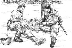 WWII GI Drawings..i have several sketch books full of drawings and comics that my dad did when he was in the military during WWII, then Korea...i need to have something done with them...