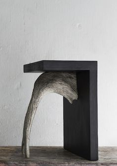"""Stag stool"" by Rick Owens. Funky Furniture, Recycled Furniture, Furniture Design, Rick Owens, Furniture Inspiration, Design Inspiration, Concrete Wood, Cement, Brutalist"