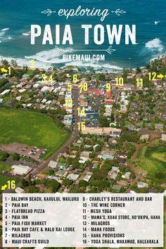 Paia Maui Map #Paia #Maui #マウイ島