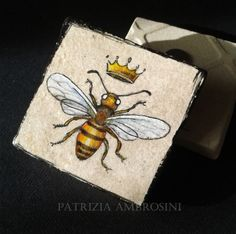 WASP with crown Vintage Style One by thestoneteller on Etsy