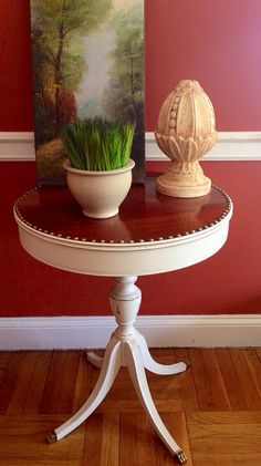 Vintage Duncan Phyfe Side Table Hand Painted Distressed Farmhouse Style on Etsy, Sold