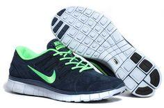 Nike Free 5.0 Anti Fur Damen Schuhe Dunkel Blau Grün