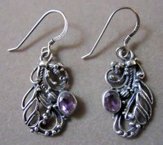 Sterling Silver and Amethyst Earings