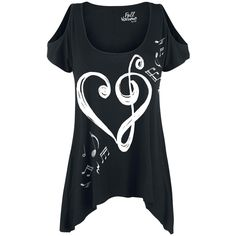 Heart-Clef Shirt - T-Shirt by Full Volume by EMP