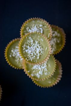 5 ingredient green tea coconut butter cups, Vegan, gluten-free, dairy-free, no refined sugar / Wholesome Foodie Dairy Free Recipes, Real Food Recipes, Dessert Recipes, Gluten Free, Low Carb Recipes, Healthy Sweets, Vegan Sweets, Paleo Treats, Vegan Desserts