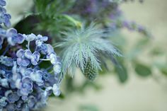 #popcorn #hydrangea and #blue hues for the #church #flowers set up