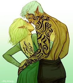Aelin and Rowan and their tattoos! (By Meabhd on Tumblr)  I remember when this…
