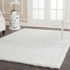 Safavieh California Cozy Plush Ivory Shag Rug x Beige Off-White, Size x (Polypropylene, Solid) White Shag Rug, White Rug, White Area Rug, Lohals, 4x6 Rugs, Rectangular Rugs, Rectangle Area, Carpet Design, My New Room