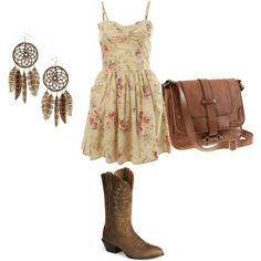 I'm in love with everything about this. Cowgirl boots.