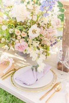 Vineyard Wedding Inspiration in Santa Barbara - Inspired By This French Romance, Timeless Wedding, Vineyard Wedding, Santa Barbara, Pastel Colors, Wedding Invitations, Table Settings, Wedding Day, Wedding Inspiration