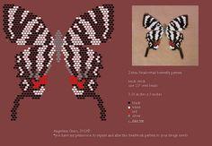 zebra swallowtail butterfly bead pattern + finished beadwork