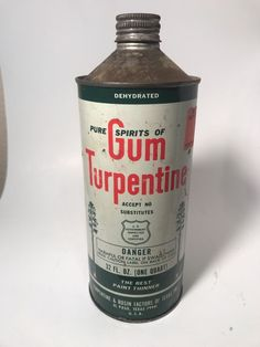 Vintage Collectible Gum Turpentine Paint Thinner Can  | eBay