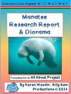 Manatees are the perfect topic for students to RESEARCH and write an ALL ABOUT REPORT! This set includes a DIORAMA PROJECT as well. Common Core Aligned with W.1.7, W.2.7 and W.3.7 ... Research to Build and Present Knowledge.**Included:*Manatee photos*Photos of Student Produced Dioramas*Instructions for a Manatee RESEARCH PROJECT-ALL ABOUT BOOK*Instructions for a Manatee DIORAMA PROJECT*Templates for ALL ABOUT BOOK*Directions for including important Manatee Facts*Optional ADOPT-A-MANATEE Clas...
