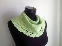 Crochet Shawlette, Green Spring Cotton Scarf Shawl, Spring Summer Lace, Yellow Green Lacy Crocheted Wrap, Greenery Knit Triangle Neckerchief