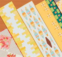 Set the Table: 11 Designer Patterns for Table Runners - Kindle edition by That Patchwork Place. Crafts, Hobbies & Home sideways strips, don't cut straight edges, add leaves Table Topper Patterns, Table Runner Pattern, Table Toppers, Modern Table Runners, Quilted Table Runners, Block Table, Book Quilt, Small Quilts, Kit