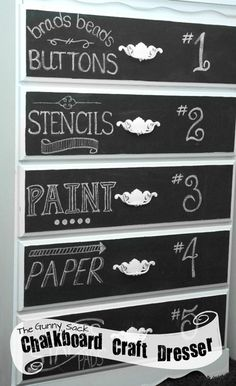 Like this idea for craft room or even my dresser so I don't have to remember drawer contents!
