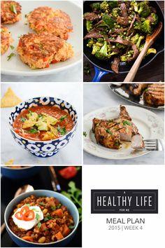 Healthy Weekly Meal Plan Week 4   ahealthylifeforme.com