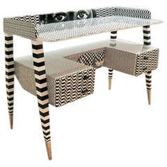 'Optique' Desk by Piero and Barnaba Fornasetti, 2009