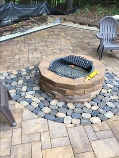 This Cambridge fire pit finishes off the beautiful Cambridge patio!