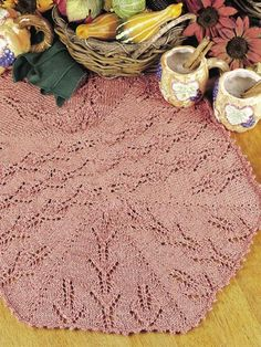 Knitting - Table Treatments - Medallion Table Runner...http://www.freepatterns.com/