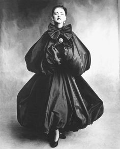 Evening dress & cape by Cristobal Balenciaga, 1950 - photo by Irving Penn for Vogue