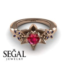 Lotus Cocktail ring Red Ruby Ring- Kaitlyn no. 4 Flower Engagement Ring by Segal JewelryFlower Engagement Ring by Segal Jewelry Lotus Engagement Ring, Engagement Ring Buying Guide, Elegant Engagement Rings, Engagement Rings Cushion, Round Diamond Engagement Rings, Wedding Jewelry, Wedding Rings, Gold Wedding, Dream Wedding