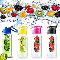 Drinkfles Deluxe met schenktuit met fruitfilter Geef je water volop smaak  Door 100% vers fruit toe te voegen in het filter  Vaatwasserbestendig met luxe infuser  Lengte fles 25cm met 700ml inhoud