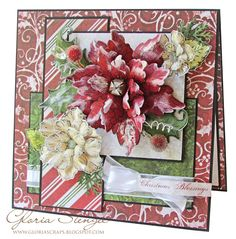 sparkling poinsettia | Heartfelt Creations Wednesday - July Release Sparkling…
