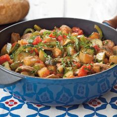 Sausage Ratatouille- Add Italian sausage to classic French ratatouille for this hearty one-dish meal, a satisfying entree for cooler months