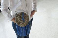 summer bag, knit bag, beautiful bag, fashion bag, shoulder bag, knitted bag with leather, knit shoulder bag