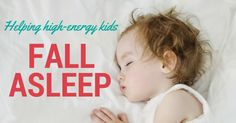 How to help high-energy kids fall asleep! Getting kids to calm down for the night can be a challenge. We've got some family-tested tips to make it easier!
