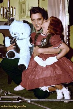 January 8, 1958, on Elvis' 23rd birthday, 8-year old Mary Kowloski, 1955 National Polio Poster Girl. was invited to visit Elvis at Graceland in Memphis, TN. .
